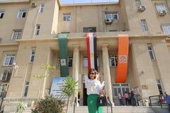 学生在开罗大学 免版税库存照片