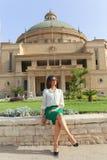 学生在开罗大学 库存照片