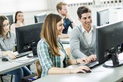 学生在教室 免版税图库摄影