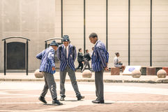 年轻学生在甘地广场约翰内斯堡 库存图片