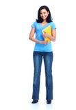 学生女孩。 免版税库存图片