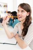 学生女孩学会 免版税库存图片