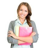 学生女孩画象 免版税库存照片