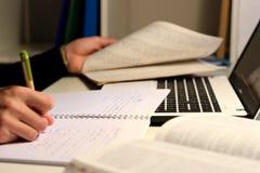 学生工作 免版税图库摄影