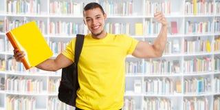 学生成功成功的横幅坚强的力量图书馆人民 库存图片