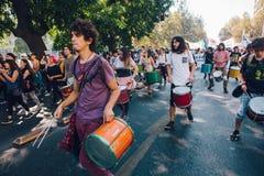学生抗议教育赢利 免版税图库摄影
