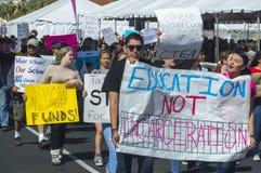 学生抗议 免版税库存图片