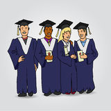 学生毕业庆祝 免版税库存照片