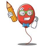 学生气球字符动画片样式 免版税图库摄影