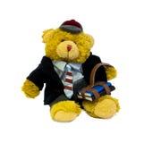 学生玩具熊 免版税库存照片