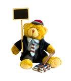 学生玩具熊 免版税库存图片
