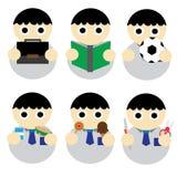 学生男孩 免版税库存照片