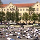 学生的克罗地亚学生在肯尼亚 免版税库存图片