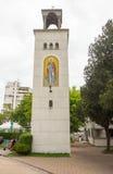 学生的教会的钟楼在布尔加斯,保加利亚 免版税库存图片