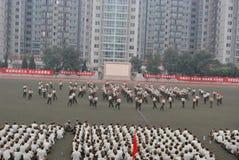 学生的17中国军事训练 免版税库存照片