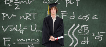 学生的综合图象毕业生长袍的 库存照片