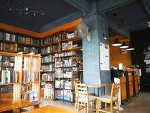 学生的Café在学校区域在曼谷泰国 免版税库存照片