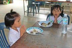 学生祈祷 图库摄影