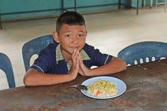 学生祈祷 免版税库存图片