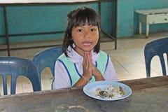 学生祈祷 库存图片