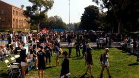 学生组织信息日在加州大学洛杉矶分校年初 影视素材