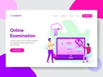 学生网上考试例证概念登陆的页模板  网页设计的现代平的设计观念为 皇族释放例证