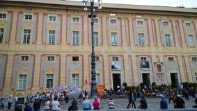学生罢工在热那亚 免版税库存图片