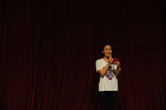 学生调解人东部中国交大-2011舞蹈课毕业音乐会党 库存图片