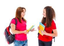 学生谈话 免版税图库摄影
