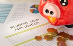 学生贷款 免版税库存照片