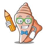 学生逗人喜爱的壳字符动画片 图库摄影