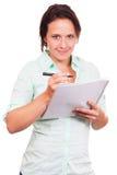 学生采取笔记 免版税库存照片