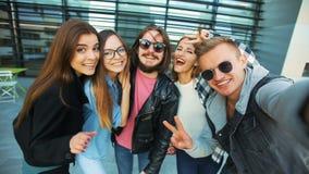 学生采取Selfie 影视素材