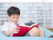 学生阅读书在学校图书馆里 库存照片