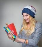 学生阅读书 免版税库存照片