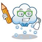 学生雪云彩字符动画片 免版税库存照片