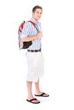 学生:分类的学院人佩带的背包 库存照片