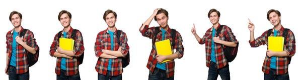 学生综合照片有书的 免版税库存图片
