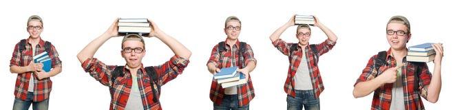学生综合照片有书的 免版税库存照片
