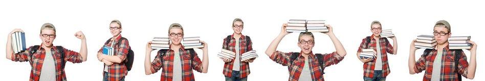 学生综合照片有书的 库存照片