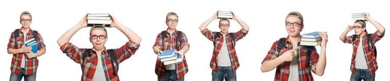 学生综合照片有书的 图库摄影