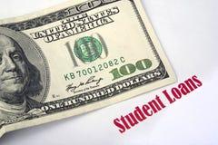 学生贷款。 图库摄影
