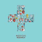 医学研究 手拉的医疗保健和医学象 图库摄影