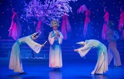学者礼节特性和歌曲押韵中国民间舞 免版税库存图片