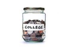 学院储款硬币瓶子 库存图片