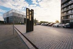 学院校园在欧登塞,丹麦 库存照片