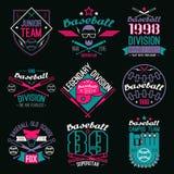 学院棒球队象征 免版税库存图片