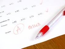 学院概念通过了测试 免版税图库摄影