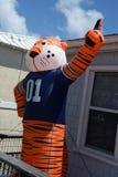 学院橄榄球吉祥人进来所有形状和大小 免版税库存图片