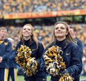 2014年学院橄榄球-啦啦队员 免版税图库摄影